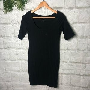 H&M Little black dress sexy size small stretchy